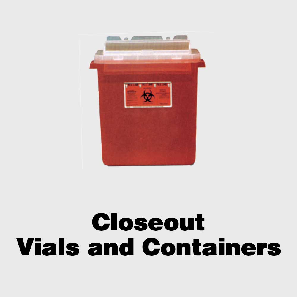 Closeout Vials and Containers