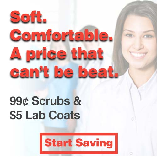 99 Cent Scrubs and $5 labcoats