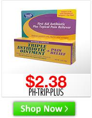Triple Antibiotic Plus Pain Reliever Desc: 15gm Price: $2.38 Sku: PH-TRIP-PLUS http://www.shopmedvet.com/category/WS101816?r=WS101816&p=WS101816