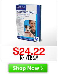 Iverhart Plus small Desc: up to 25lbs, 6 tablets/pk Price: $24.22 Sku: RXIVER-SM http://www.shopmedvet.com/category/WS102516?r=WS102516&p=WS102516