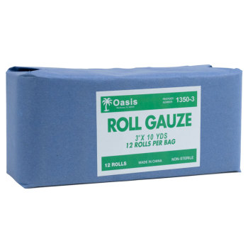 "GAUZE,ROLL,3""X10YD,N/S,12/BAG"