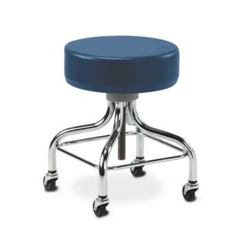 "STOOL,EXAM,SQUARE FOOT RING,2""  WHEELS"