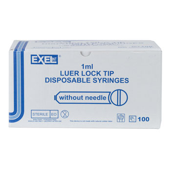 SYRINGE, 1CC LL, EXEL, 100/BOX