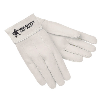 GLOVES,WELDING,RED RAM,WHITE,PAIR
