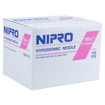 NEEDLE,18 X 1, NIPRO, 100/BX