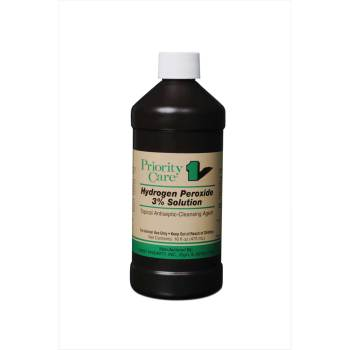 HYDROGEN PEROXIDE 3%, 16OZ PRIORITY CARE