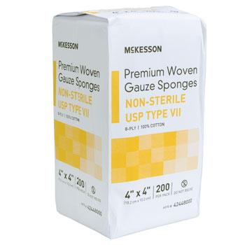 GAUZE,PKG,4X4 8PLY,N/S,200/PKG