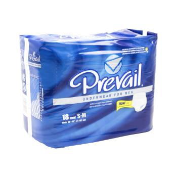 UNDERWEAR,PREVAIL,MENS,SM/MED,18/BAG