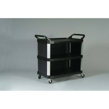 CART,UTILITY,XTRA,CLSD ON 3 SIDES,BLACK,EA