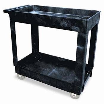 CART,UTILITY,2 SHELF,HVY DUTY,BLACK,EACH