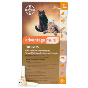 Rxv Advantage Multi 5 1 9lbs Small Cat Orange 6 Mth