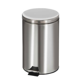 RECEPTACLE,WASTE,STAINLESS STEEL,ROUND,20QT,EACH