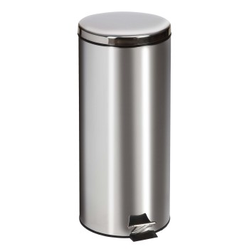RECEPTACLE,WASTE,STAINLESS STEEL,ROUND,32 QT, EACH