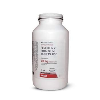 Rx penicillin vk 500mg 500 count p for Penicillin v tablets