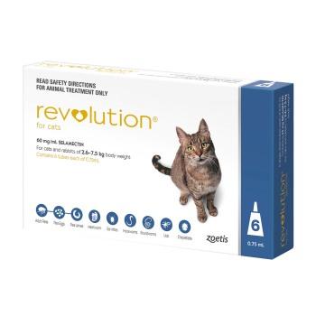 Rxv Revolution Blue Cats 6pk 5 15lb R Shopmedvet Com