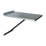 TABLE, WALL MOUNT, VSSI, STATIONARY, SS TOP, NO DRWR