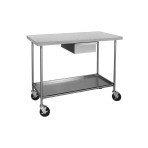 TABLE, TREATMENT, VSSI, ON CASTERS, W/DRWR