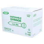 SYRINGE,1CC L/S,100/BX