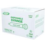 SYRINGE,3CC L/L,100/BX