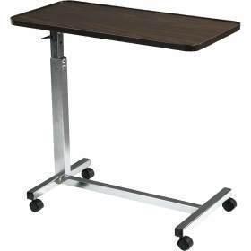 Tilt Top Overbed Table, Walnut ,  Size