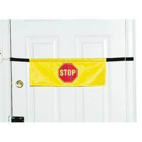 High Visibility Door Alarm Banner with Magnetically Activated Alarm System, Yellow ,  Size