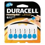 BATTERY,HEARING AID, 1.4V,SZ675,6/CARD