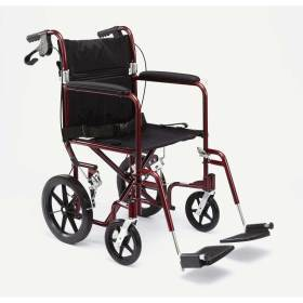 "WHEELCHAIR,TRANSPORT,ALUM,12"" WHL,RED,EA"