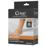 SUPPORT,ANKLE,CURAD,ELASTIC,OPEN HEEL,MEDIUM,EACH