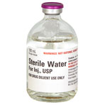 RX STERILE WATER FOR INJ. 100ML BOTTLE