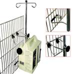 IV stand, space-saver cage mount