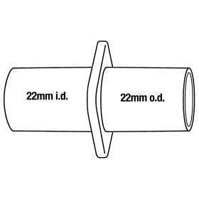 Anesthesia, hose adaptor, 22mm ID x 22mm OD, 2 pk