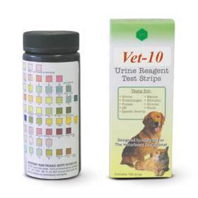 Strip, vet-10 urine reagent, 100pk