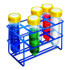 Rack, test tube, eight 50ml