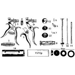 Syringe, hauptner, complete plunger, 10cc