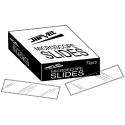 "Slide, microscope, frosted edge, 1""x 3"", 72/box"