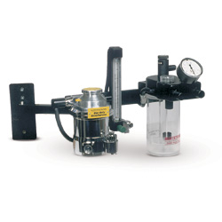 Anes. Machine,Wallmount anes machine w/arm & refurb Drager