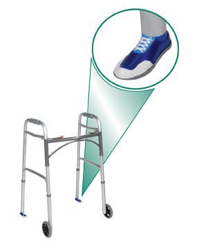 Sneaker Walker Glides, Blue, Standard Size