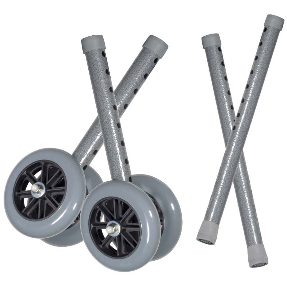 "5"" Bariatric Walker Wheels, Gray , 5"" Wheel Size"