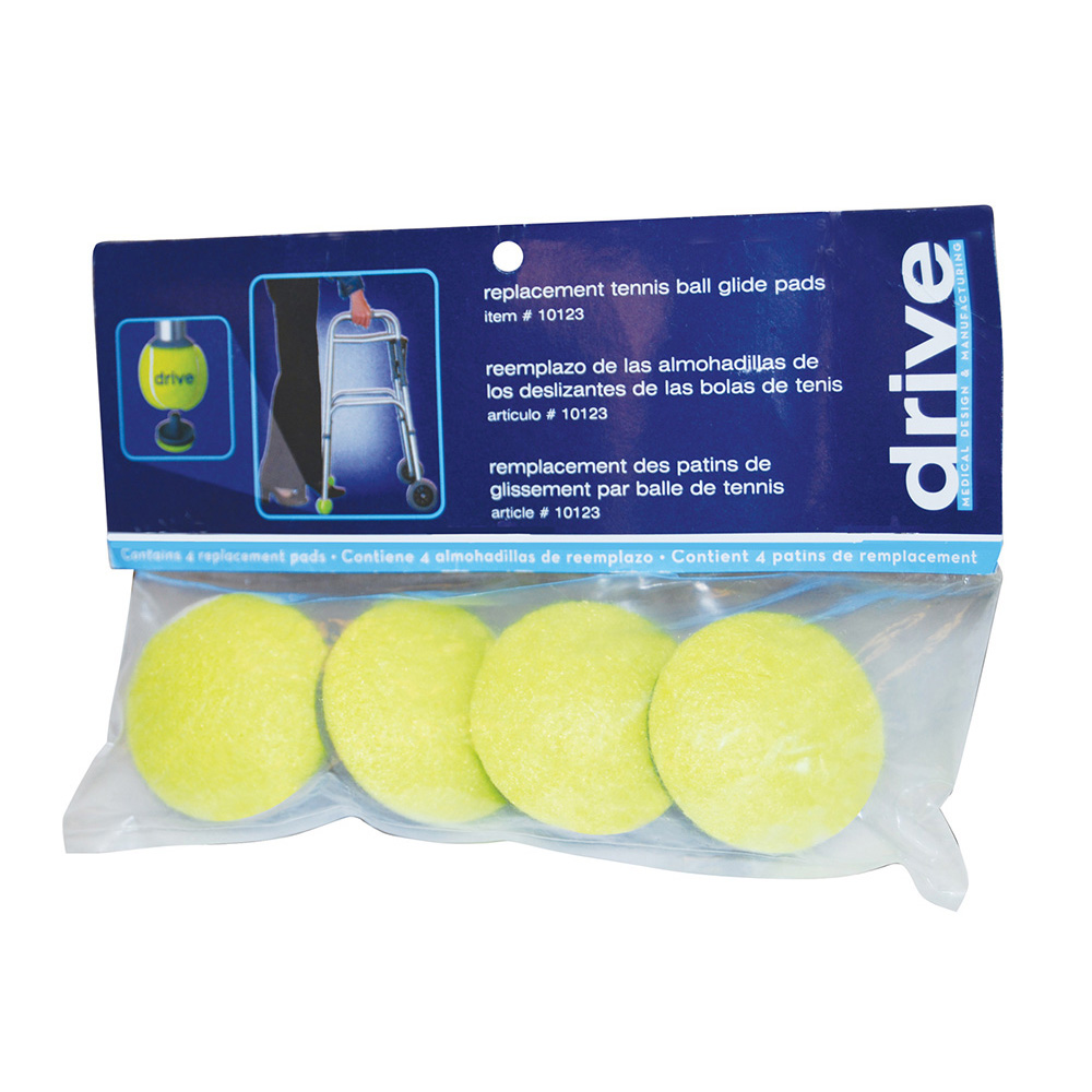 Replacement Tennis Ball Glide Pads for Drive Medical Tennis Ball Glides, Yellow ,  Size