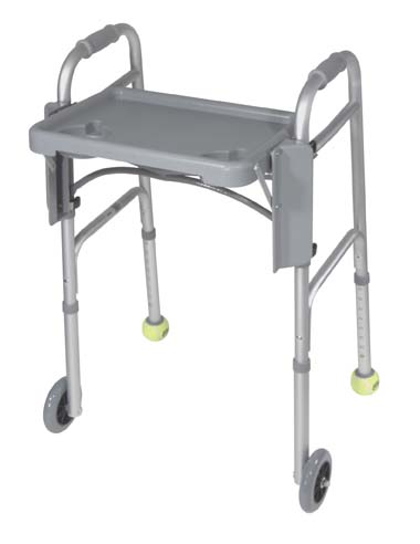 "Folding Walker Tray, Gray , 16"" x 12"" Size"