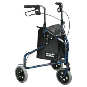 Winnie Lite Supreme Three Wheel Rollator, Flame Blue ,  Size