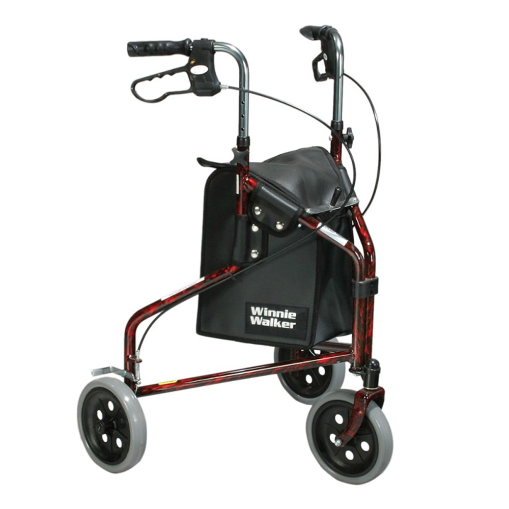 Winnie Lite Supreme Three Wheel Rollator, Flame Red ,  Size