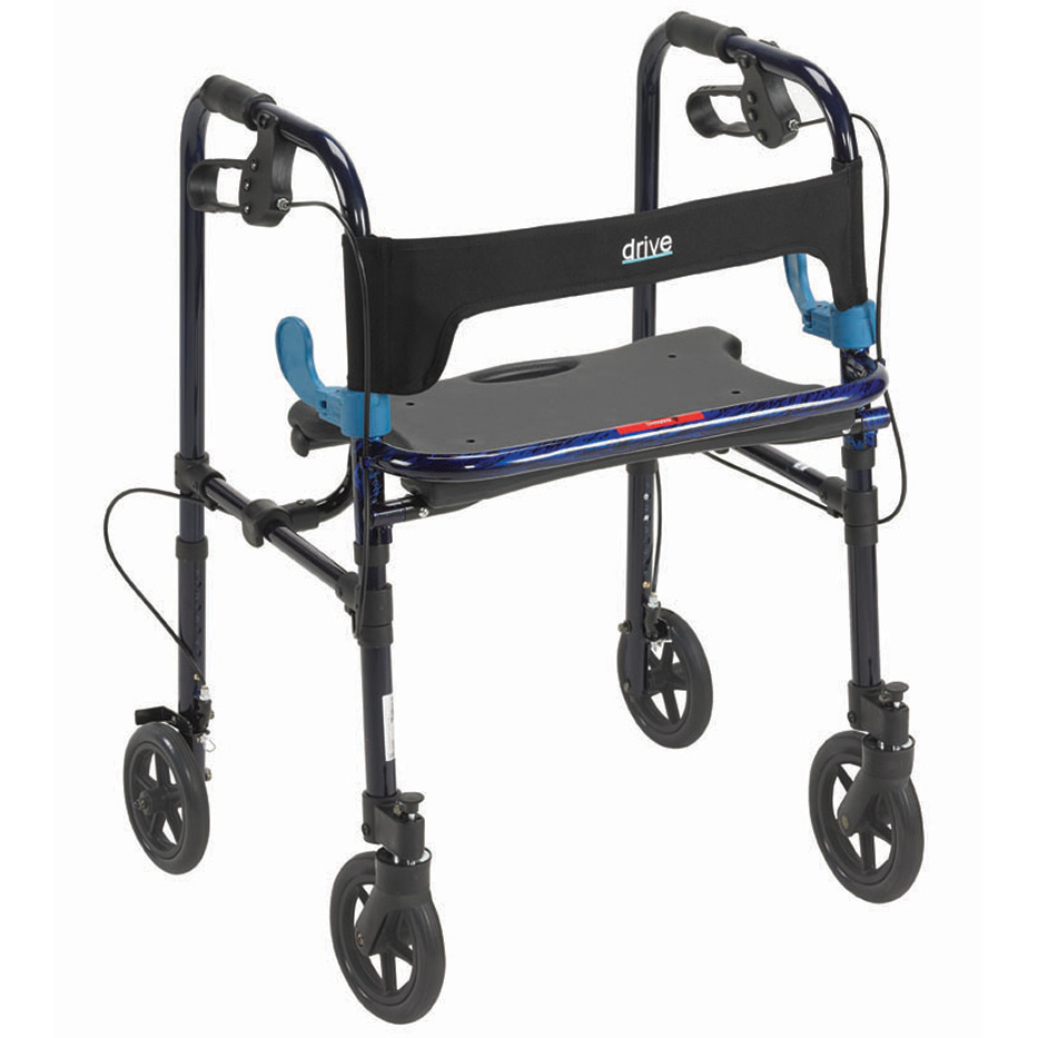 "Clever Lite Rollator Walker with 8"" Casters, Flame Blue , Adult  Size"
