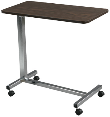 Non Tilt Top Overbed Table, Chrome ,  Size