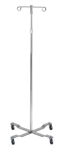 Economy Removable Top I. V. Pole, Chrome ,  Size
