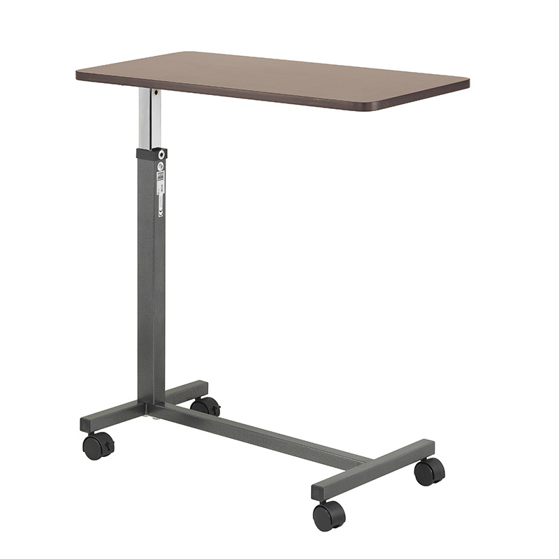 Non Tilt Top Overbed Table, Silver Vein ,  Size