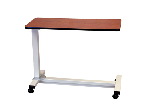 """Bariatric Heavy Duty Overbed Table, Oak, 18"""" x 40"""" Size"""