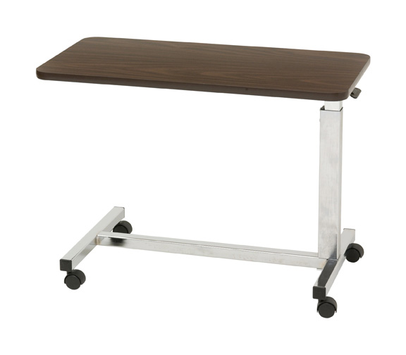 Low Height Overbed Table, Walnut ,  Size