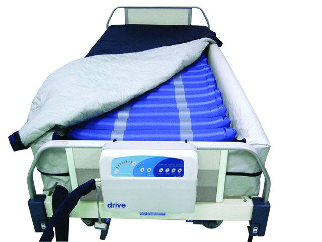 """Med Aire 8"""" Defined Perimeter Low Air Loss Mattress Replacement System w/ Low Pressure Alarm,Blue,8"""""""