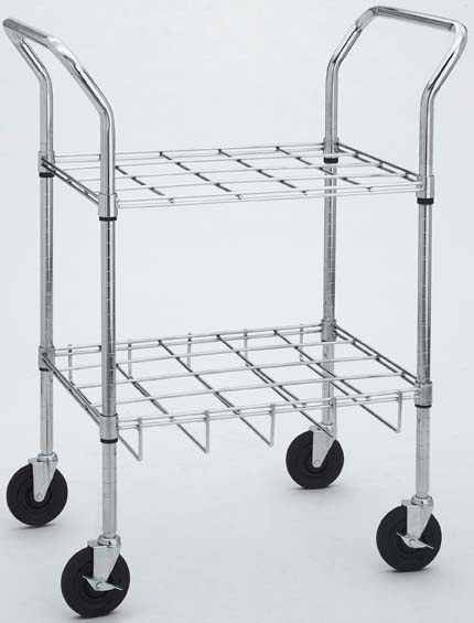 Oxygen Cylinder Carts for E, D, C or M9 Cylinders, Chrome, 12 Cylinder Size